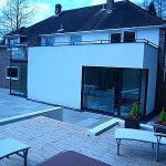 Modern Extension with Full Width Balcony & Sliding Pocket Doors