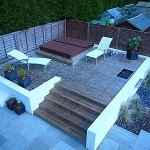 Raised Decking with Built-in Hot Tub